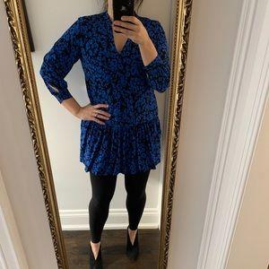 Whistles electric blue mini dress - Size L/US10-12